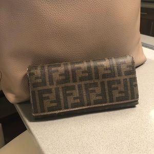 Fendi Tri Fold Wallet